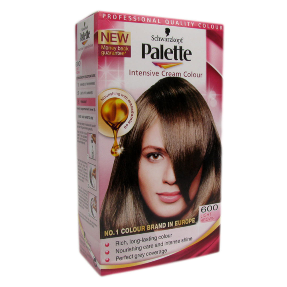 Schwarzkopf Palette Permanent Hair Colour 600 Light Brown