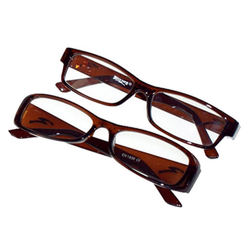 optical 1 pair of new brown plastic framed reading