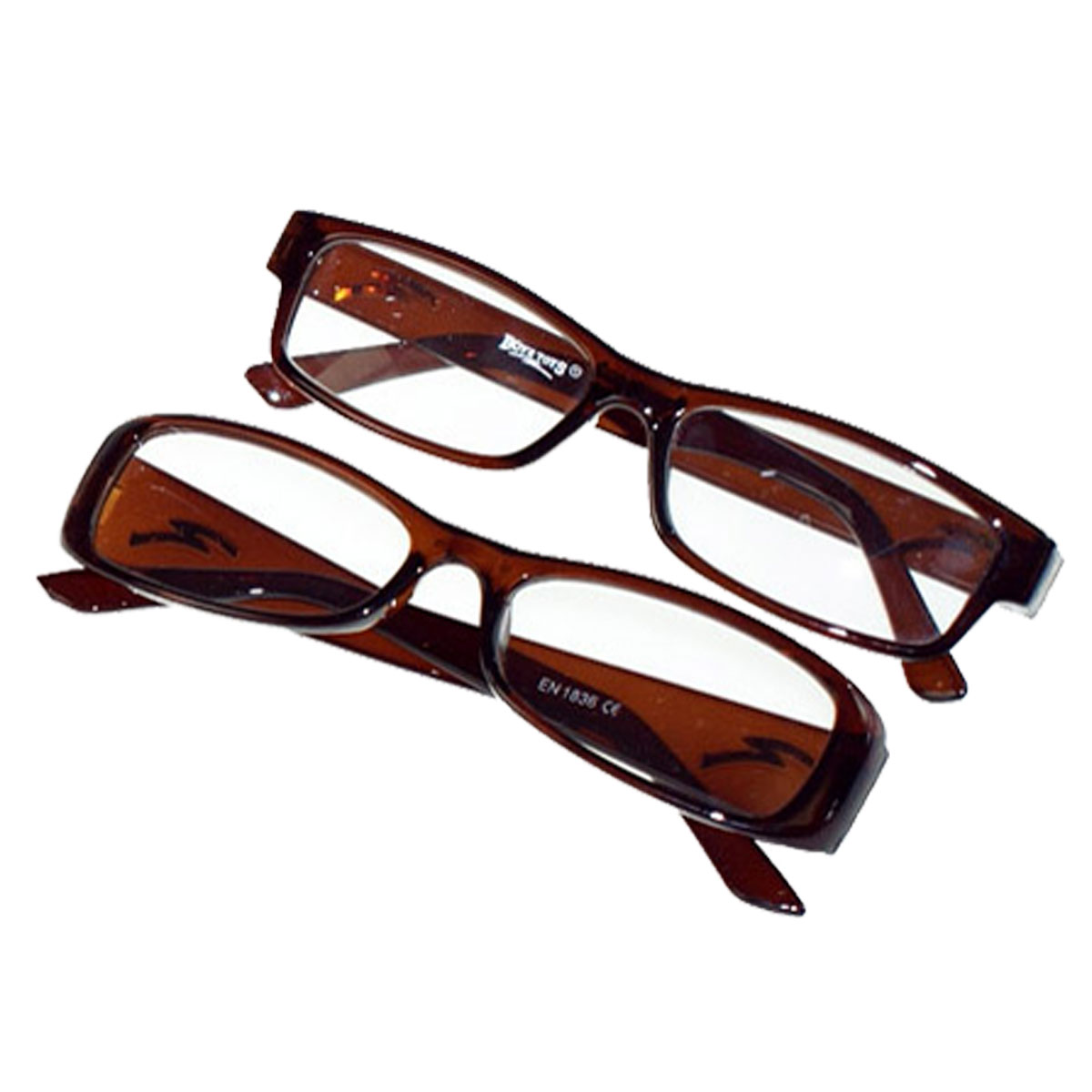 Plastic Eyeglass Frame Polish : Reading Glasses Spectacles Brown Plastic Frame Boyz Toys ...