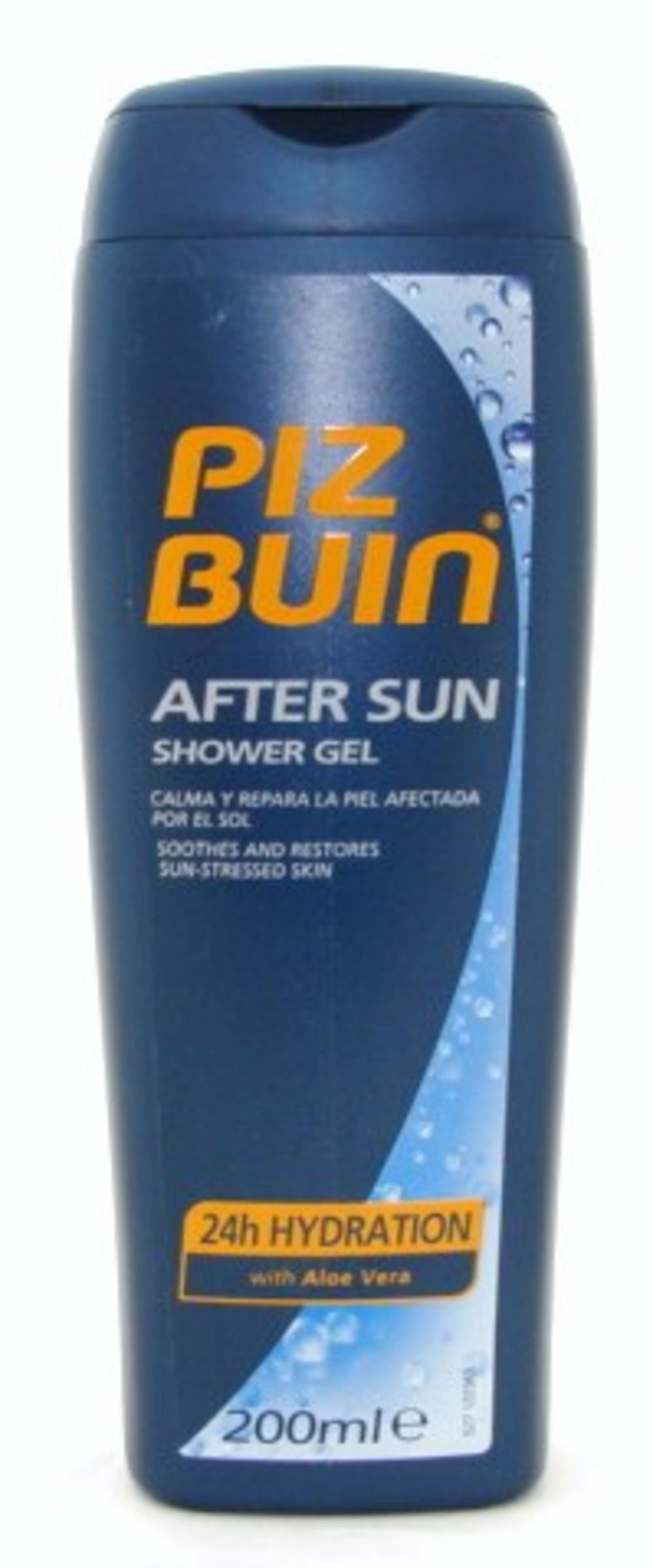 Piz Buin After Sun Shower Gel with Aloe Vera 200ml Bath & Shower 200  Ur # Sun Shower Gel_001508