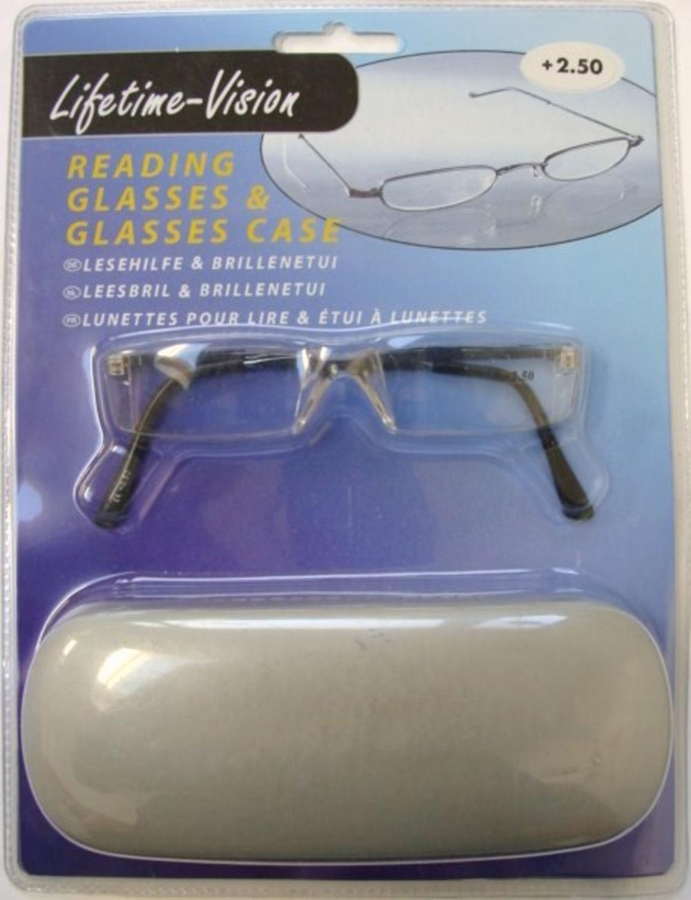 reading glasses time vision eye care unisex set with