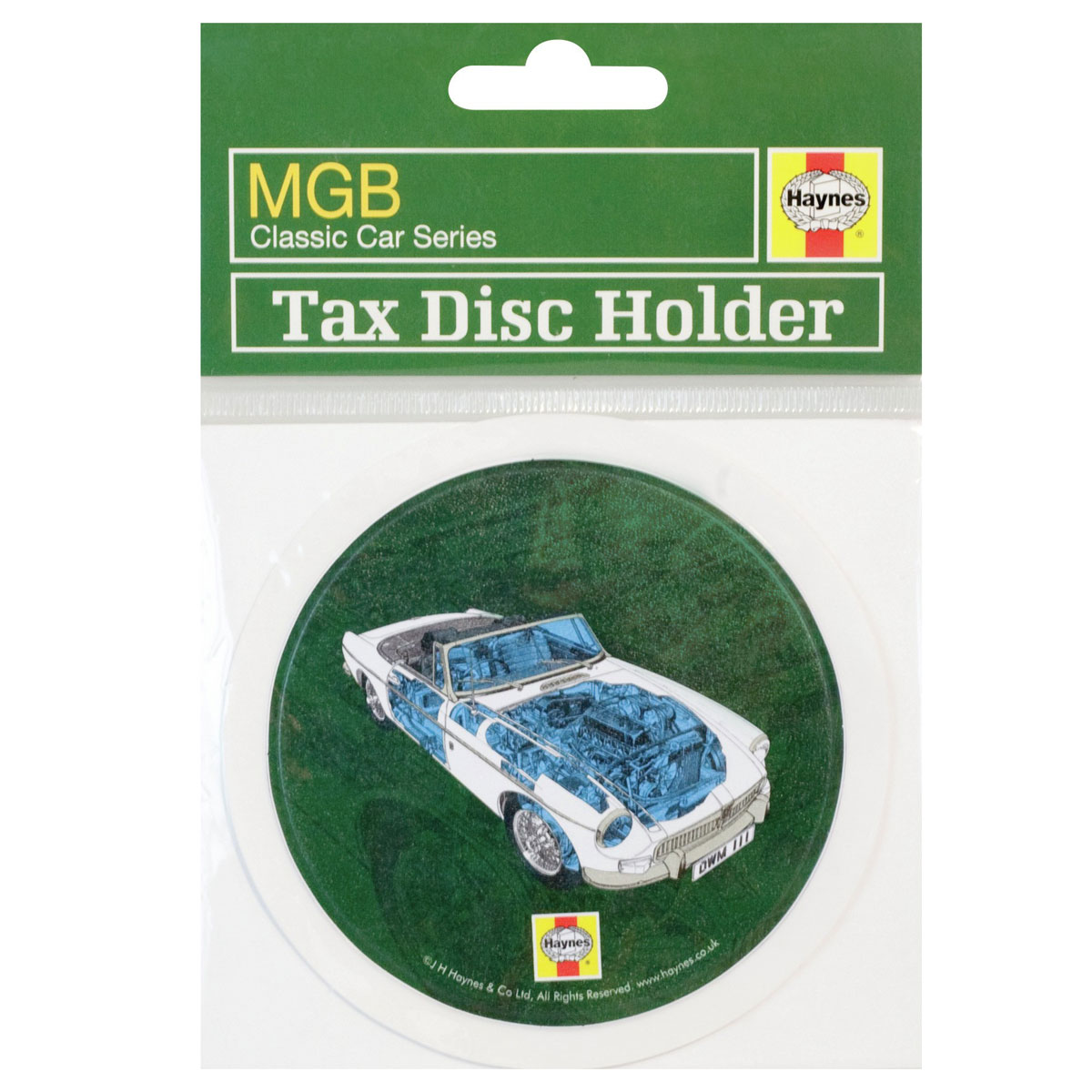 Haynes Classic Car Series Tax Disc Holder - MGB - Retro Enlarged Preview