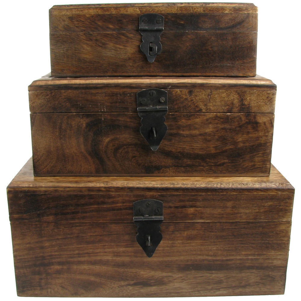 ... Nested Hand Carved Wooden Storage Boxes Jewellery box | Urban Trading