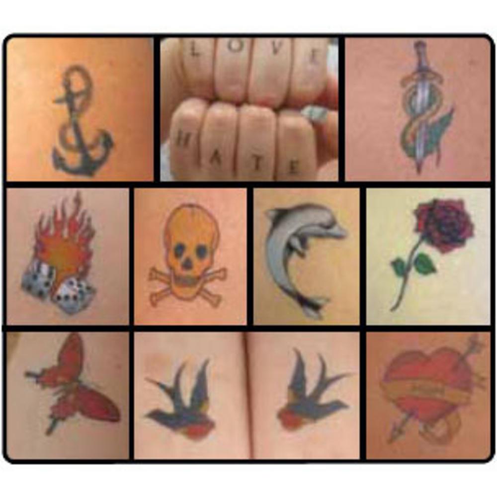Painless tattoo parlour retro classic temporary tattoos for Painless permanent tattoos