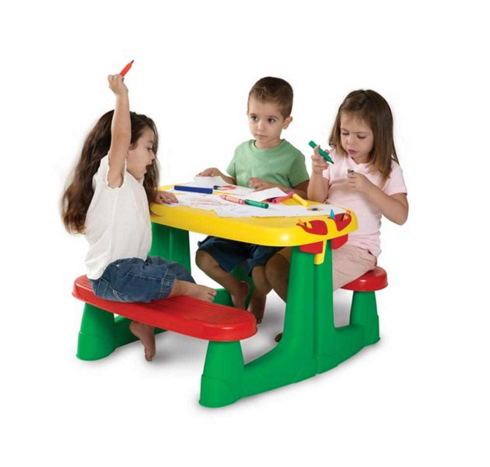keter kids garden villa toy playhouse picnic table set playhouse
