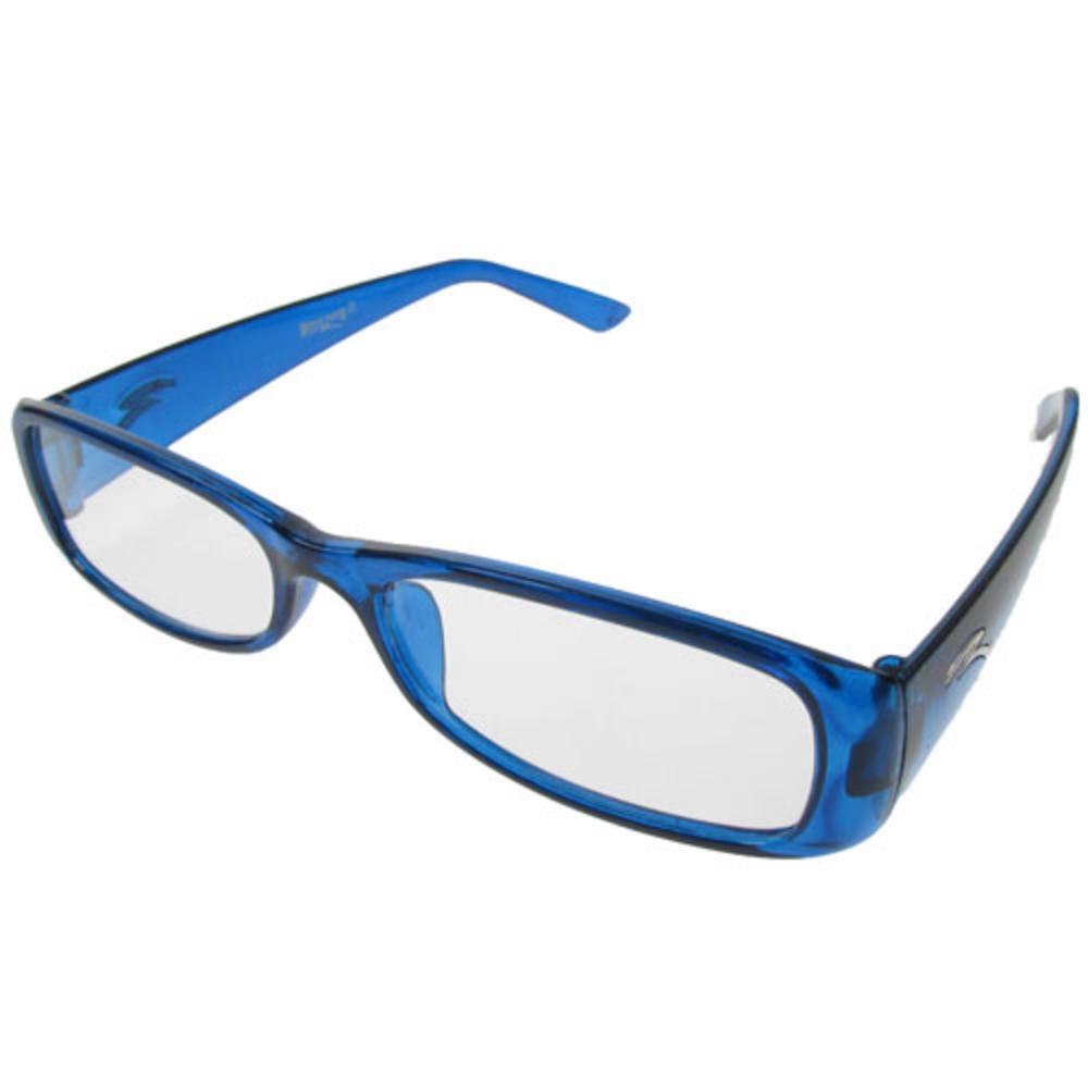 pair of new blue plastic frame reading glasses 2 00