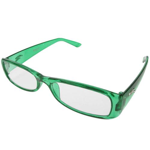 Pair of New Green Plastic Frame Reading Glasses +1.00 eBay