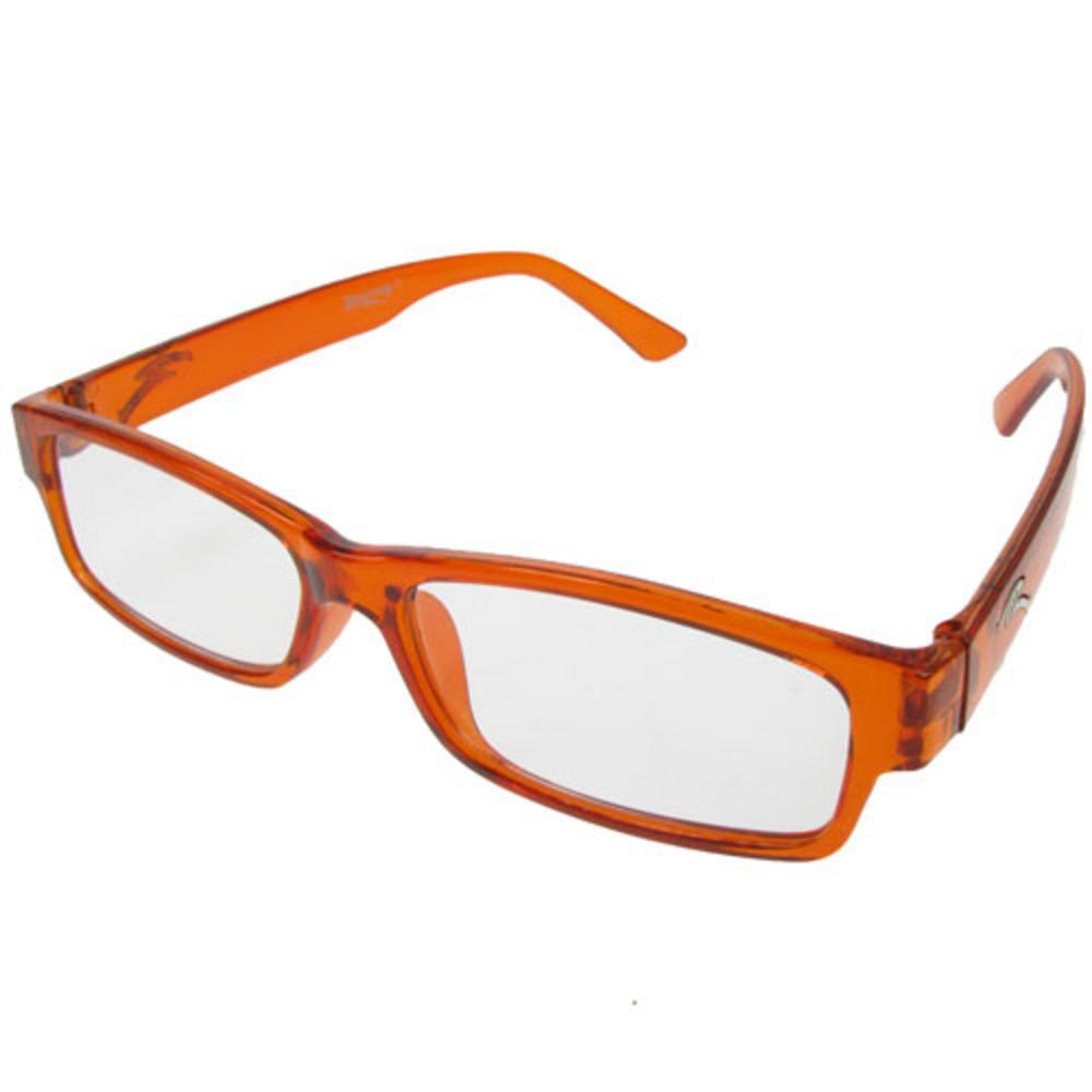 optical 1 pair of new orange plastic frame reading