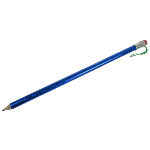 Bigger & Extra Long Writable Pencil + Eraser Tip - Blue Enlarged Preview