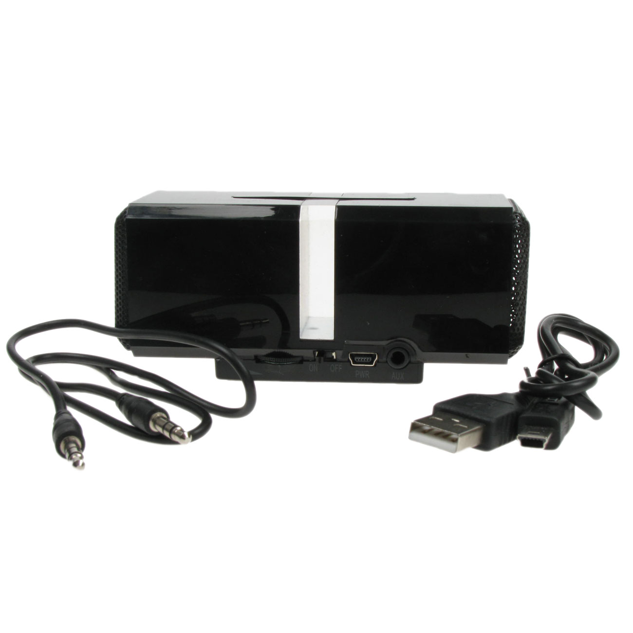 Powerful Portable 3.5mm Rechargeable Travel  Speaker - Black for MP3 HTC Nokia Enlarged Preview