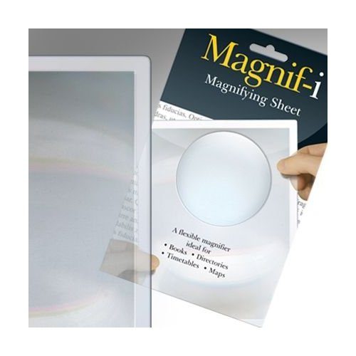 Magnif-I Half Page Magnifying Glass Sheet - books, directories, timetables maps Enlarged Preview