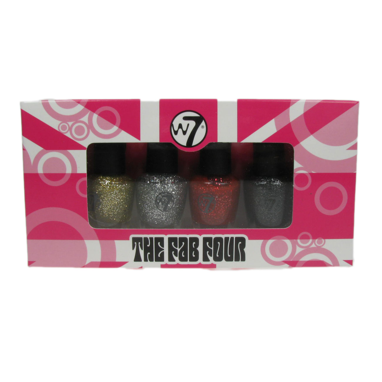 W7 Set Of 4 Mini Nail Polish Varnish Gift Set Cosmic Collection 4x 5ml Enlarged Preview