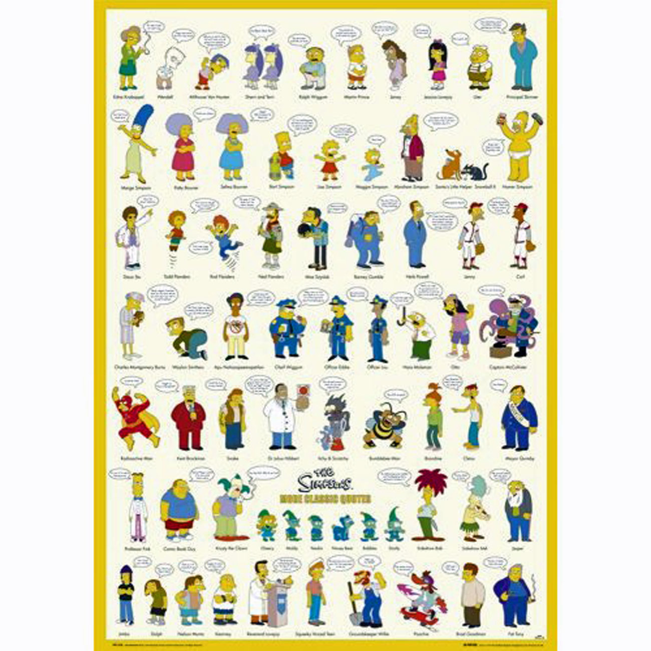 Maxi Poster Simpsons More Classic Quotes 61 x 91 5cm | eBay