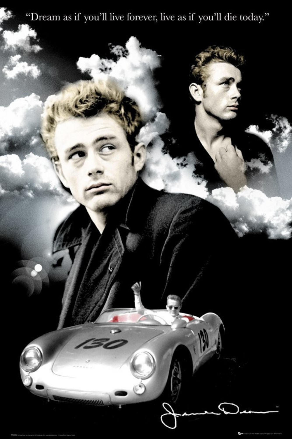 maxi poster james dean clouds 61cm x. Black Bedroom Furniture Sets. Home Design Ideas