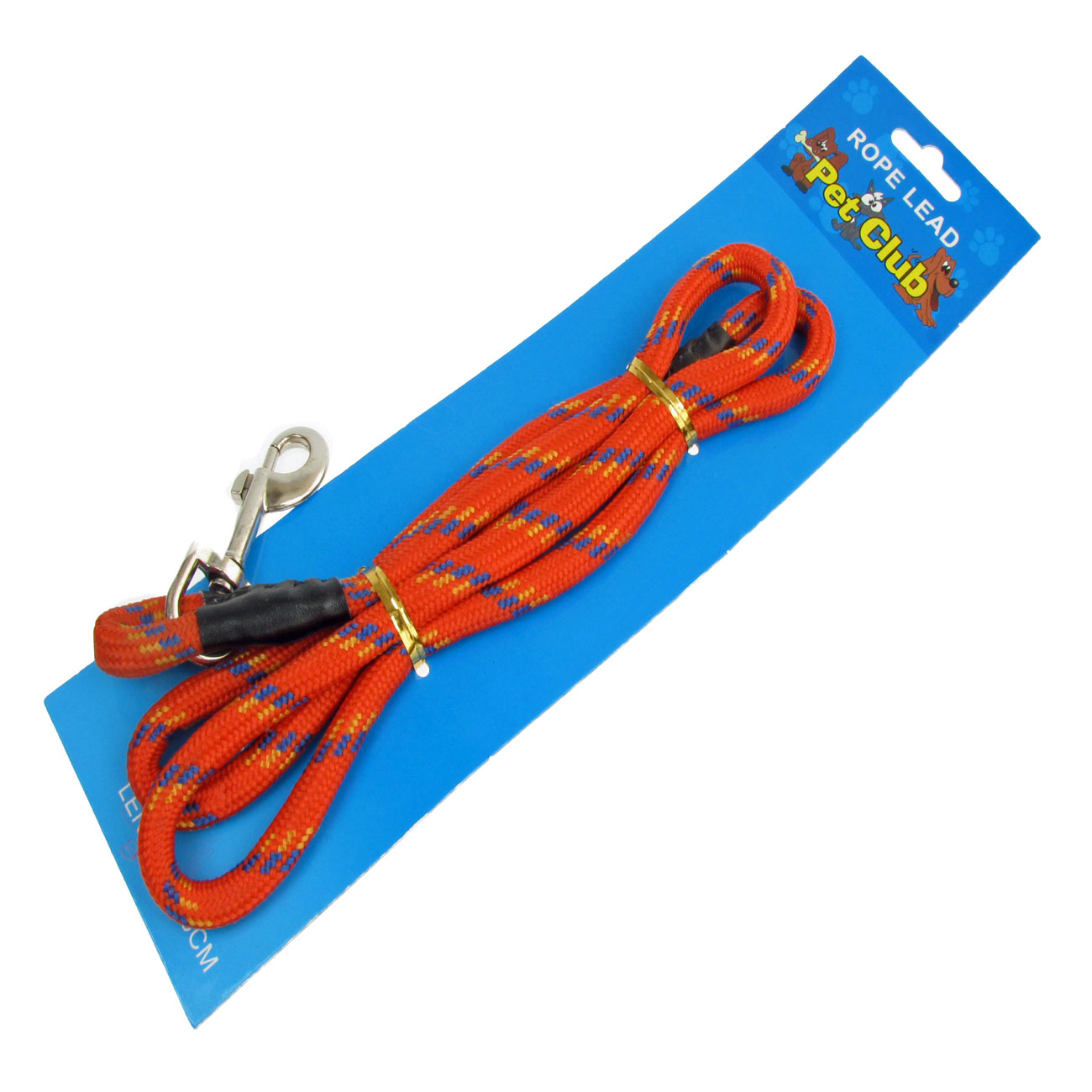 Strong Nylon Dog Pet Rope Lead Red 15mm x 1metre Trigger Hook Gundog Enlarged Preview