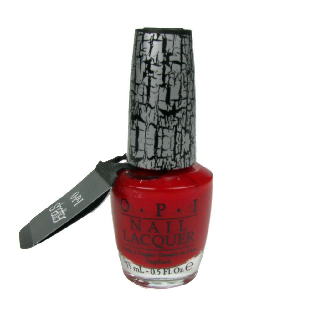 OPI Nail Lacquer Polish Varnish 15ml Red Shatter Crackle ...