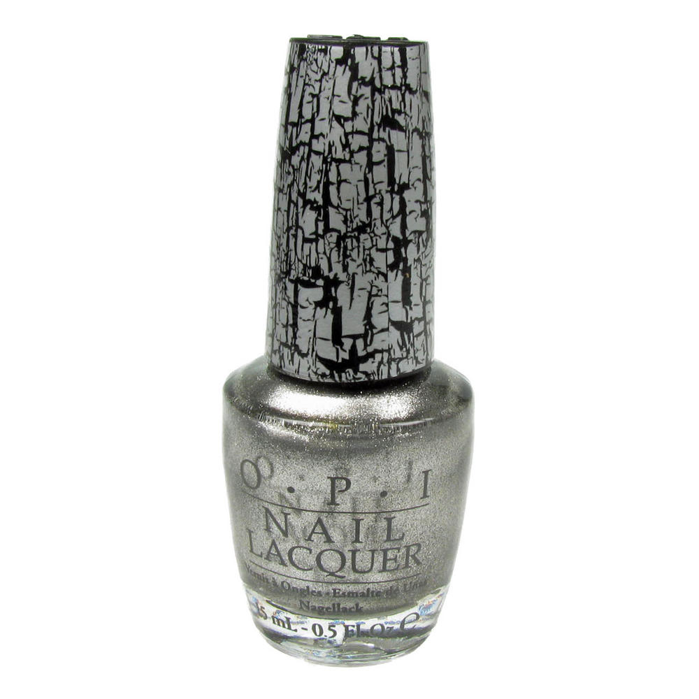 OPI Nail Lacquer Polish Varnish - Silver Shatter Crackle ...