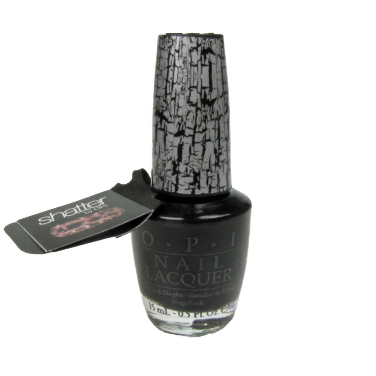 OPI  Nail Lacquer Polish Varnish 15ml Black Shatter Crackle NL E53 Enlarged Preview
