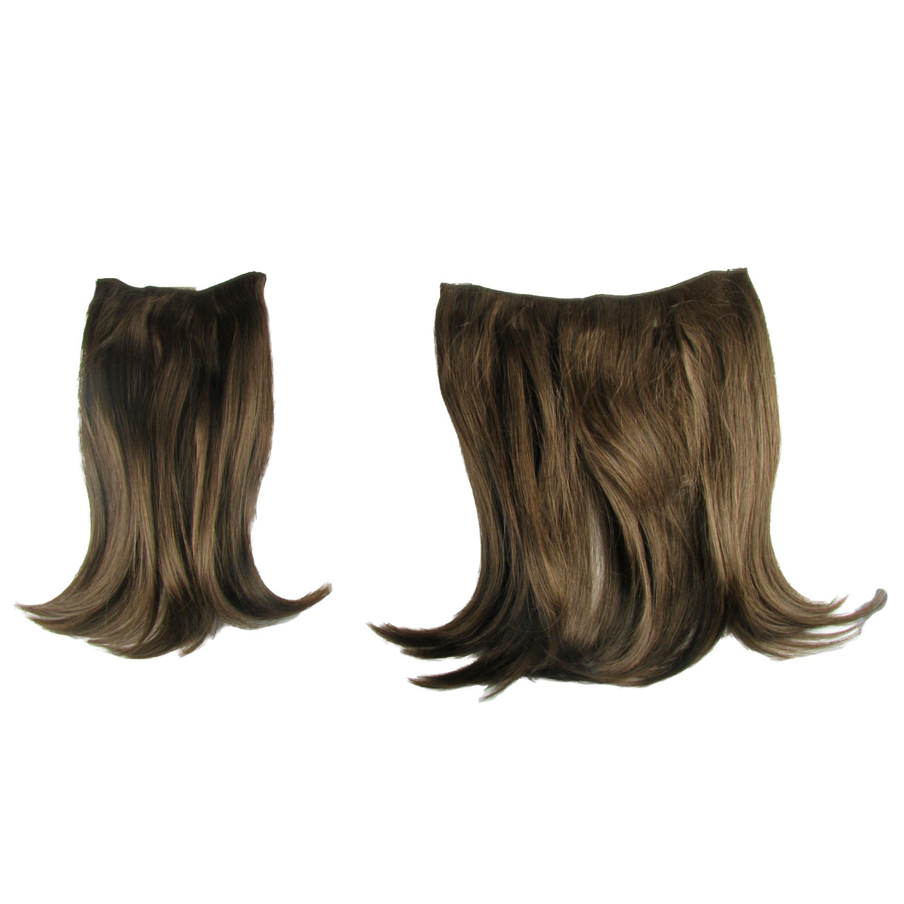 Pop Clip In Hair Extensions 2 Two Piece Straight Dark Cinnamon 16