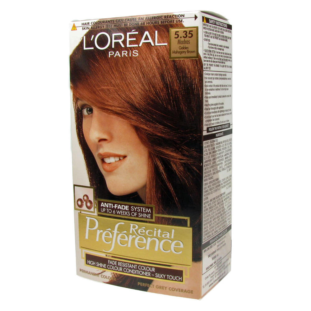 Loreal Preference Hair Color Chart  Dark Brown Hairs