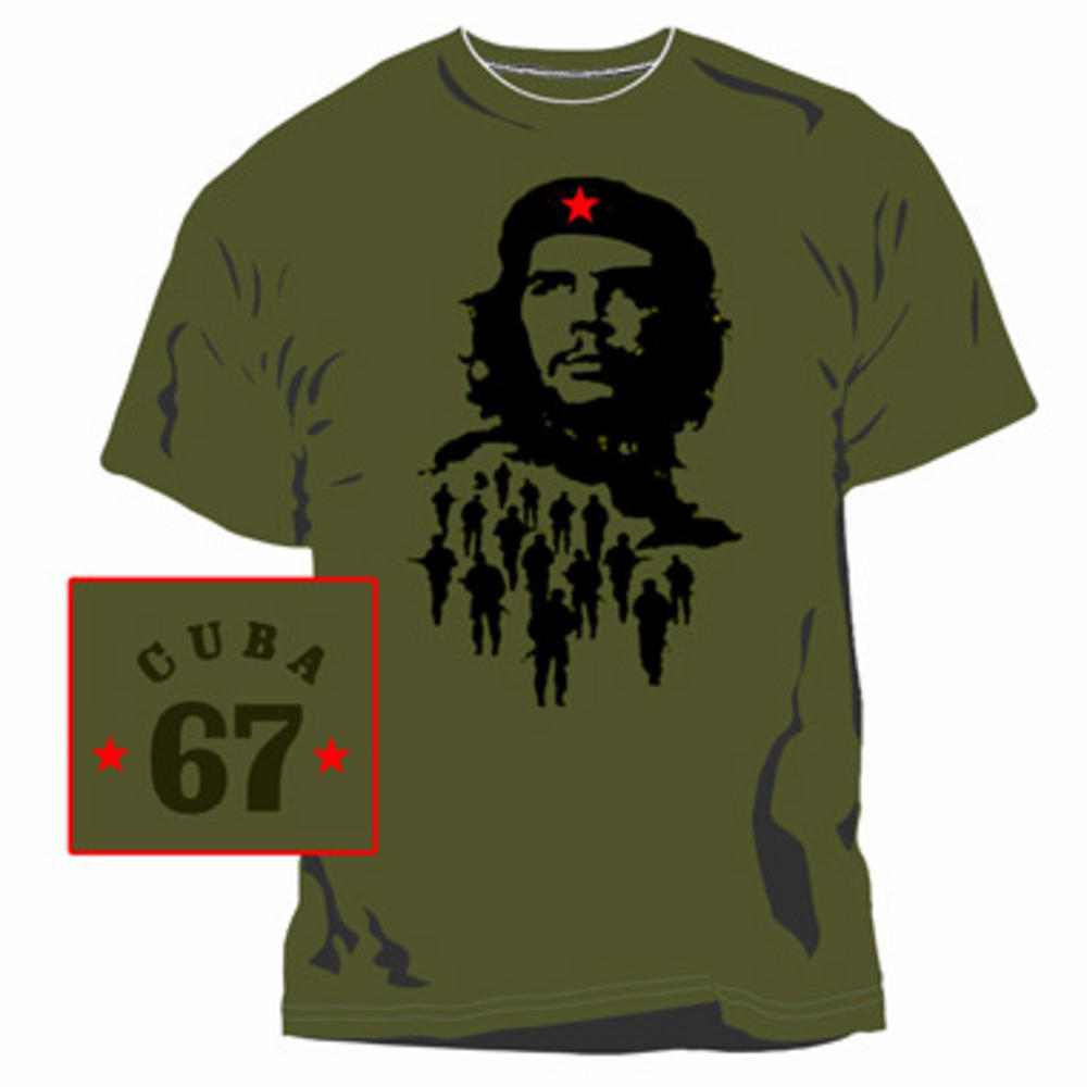 Official Che Guevara Cuba Olive Green T Shirt Small T