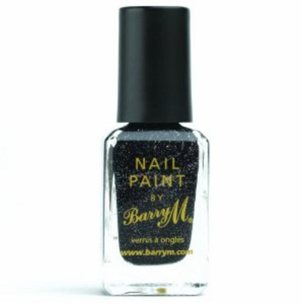 Barry M Nail Polish Paint Varnish Color Black Multi