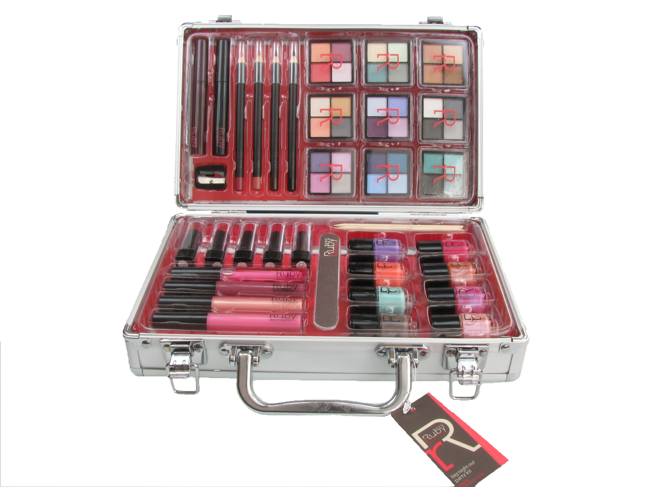 Cosmetic Vanity Case 36 Piece Beauty Train Box Make Up