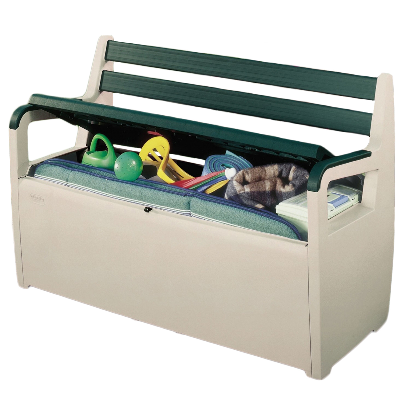 Keter Plastic Deck Patio Bench Large Garden Storage Seat