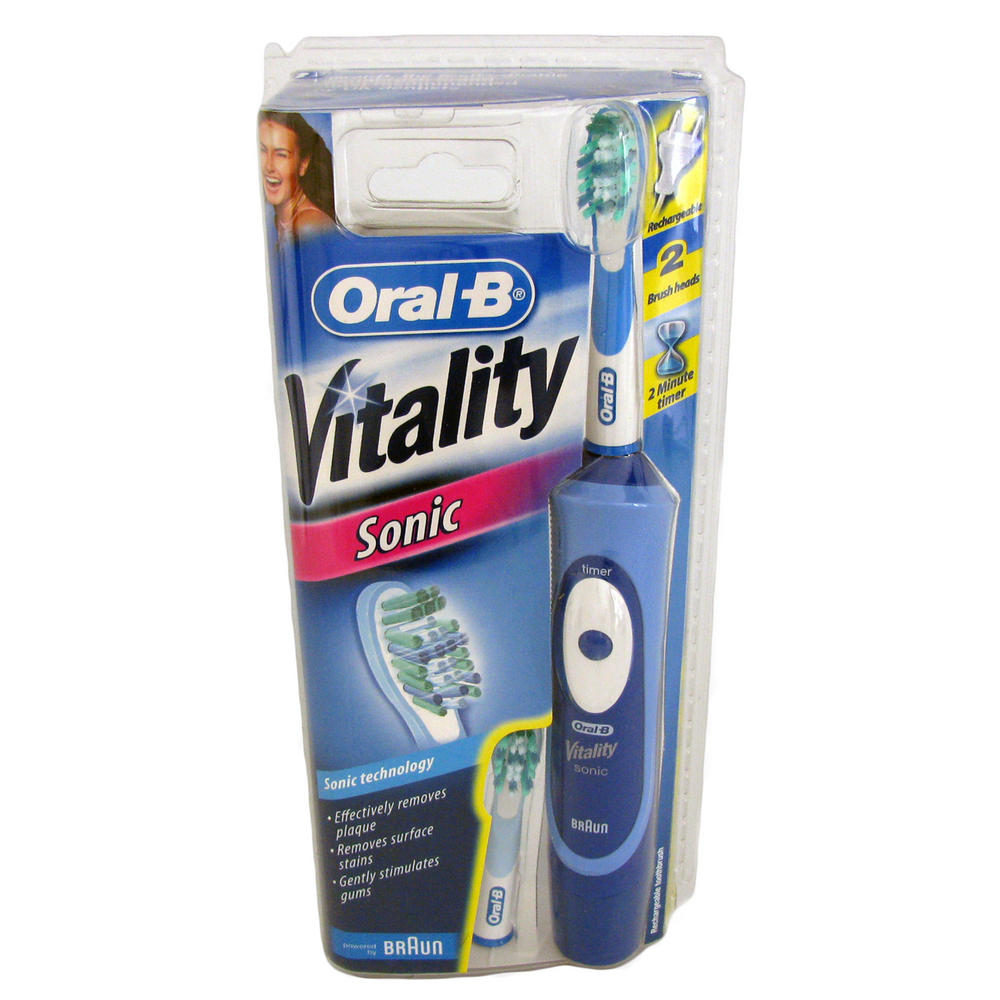 braun oral b vitality electric sonic rechargeable. Black Bedroom Furniture Sets. Home Design Ideas