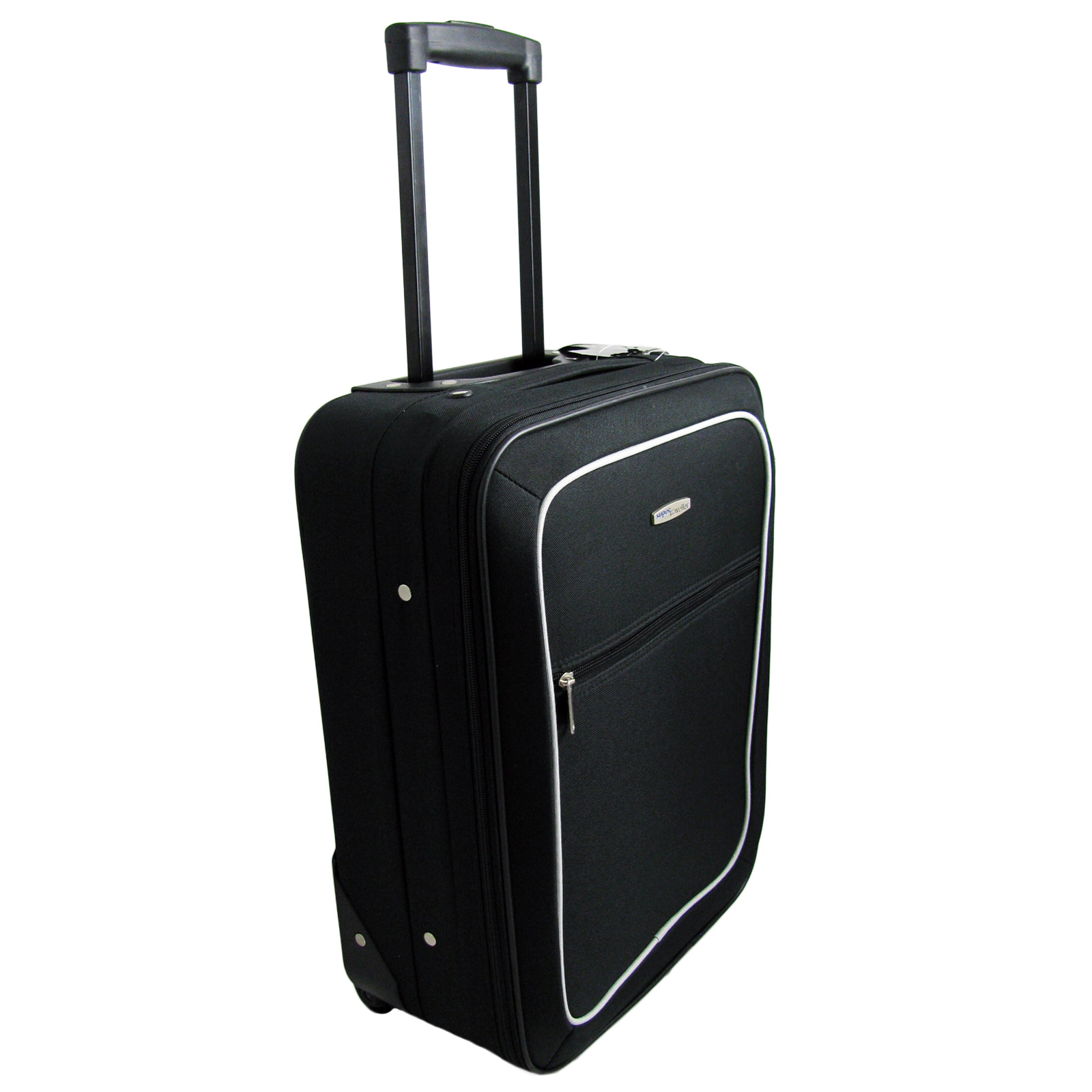 49CM Carry On Board Cabin Travel Hand Luggage Wheeled Bag - Black ...