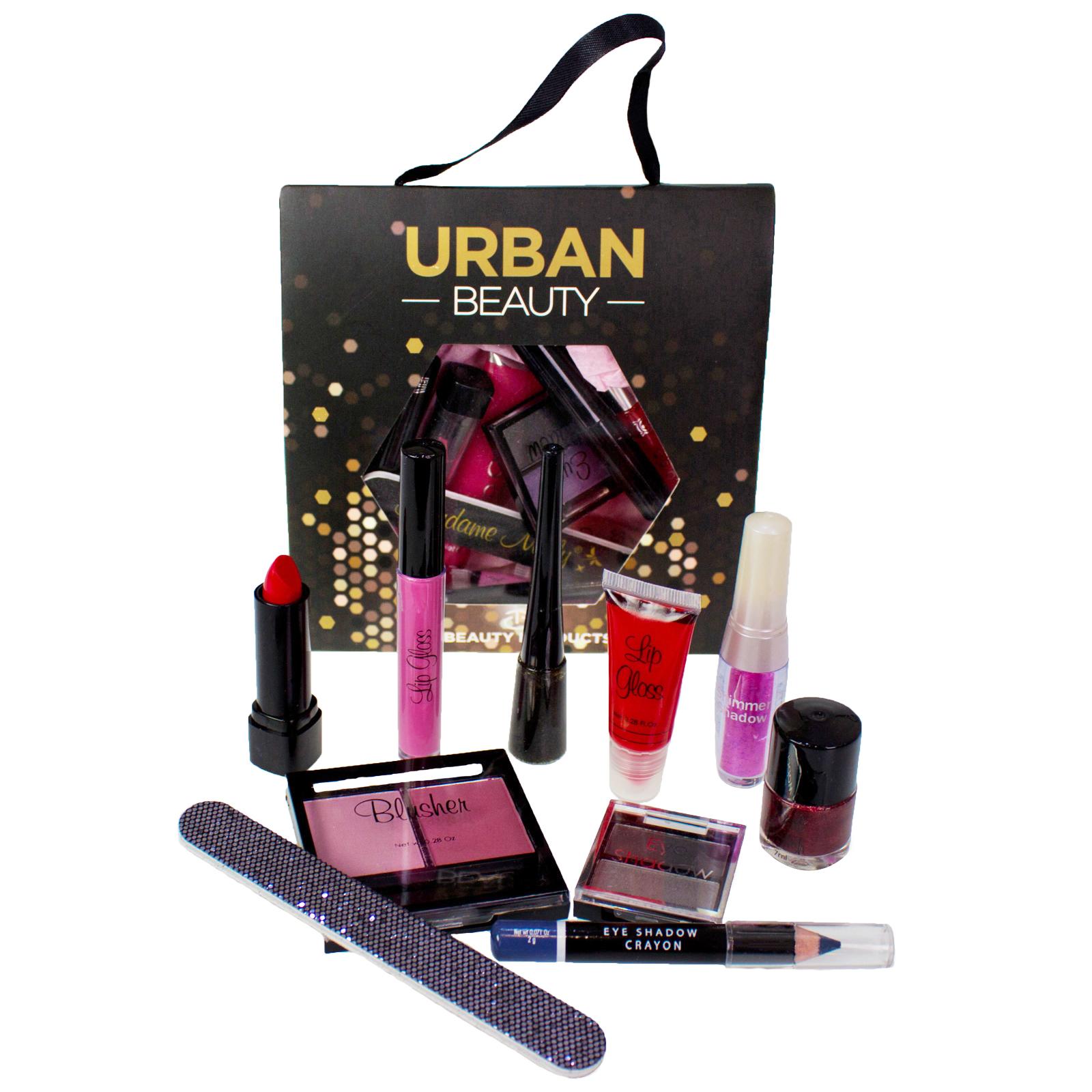 Piece beauty cosmetic makeup gift set bag eyes lips