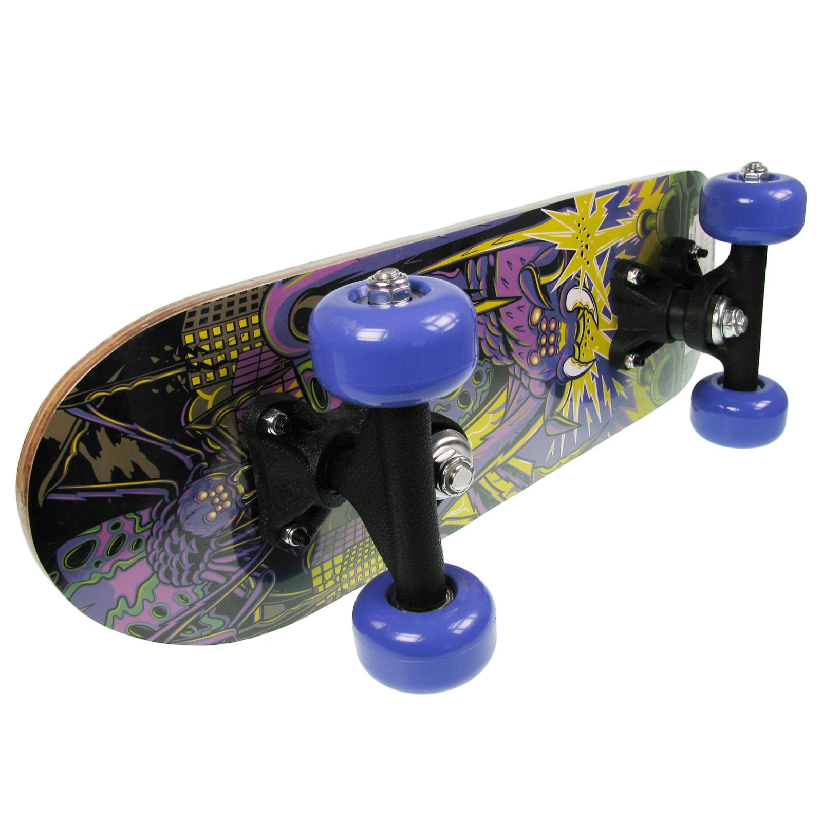 Wilton amp bradley kid childrens beginner osprey purple mini skateboard