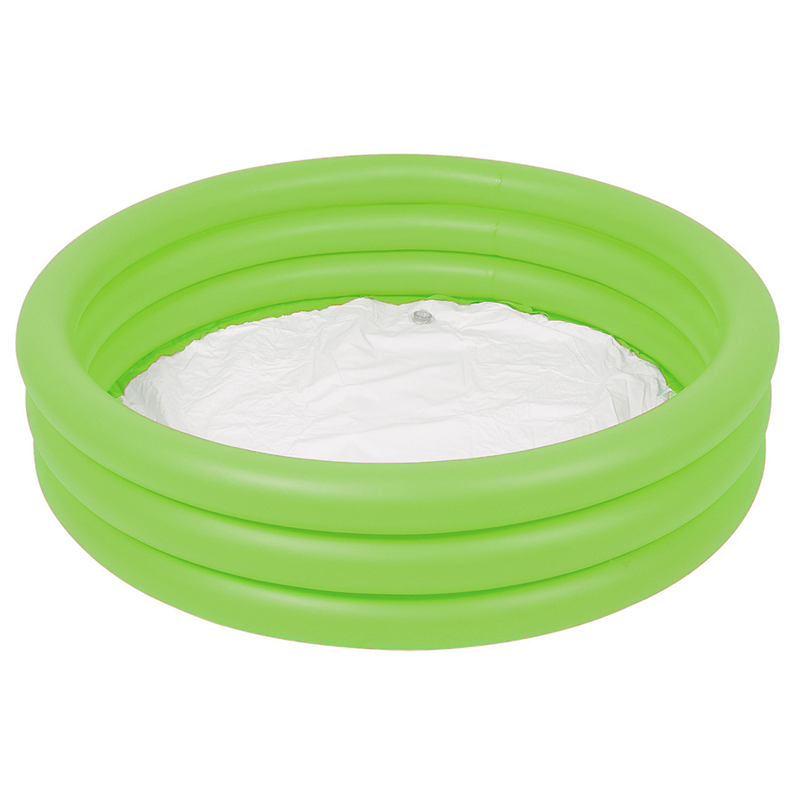 Bestway 3 ringed inflatable green swimming paddling pool for Small paddling pool