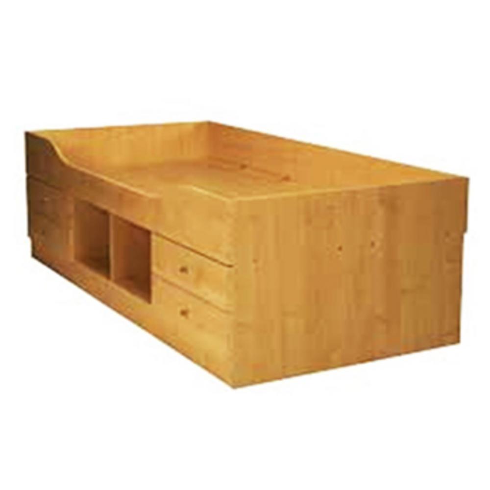 Wooden bed frames storage
