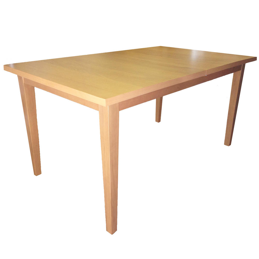 Winslow modern beech 150cm to 180cm extendable dining for Extendable dining table