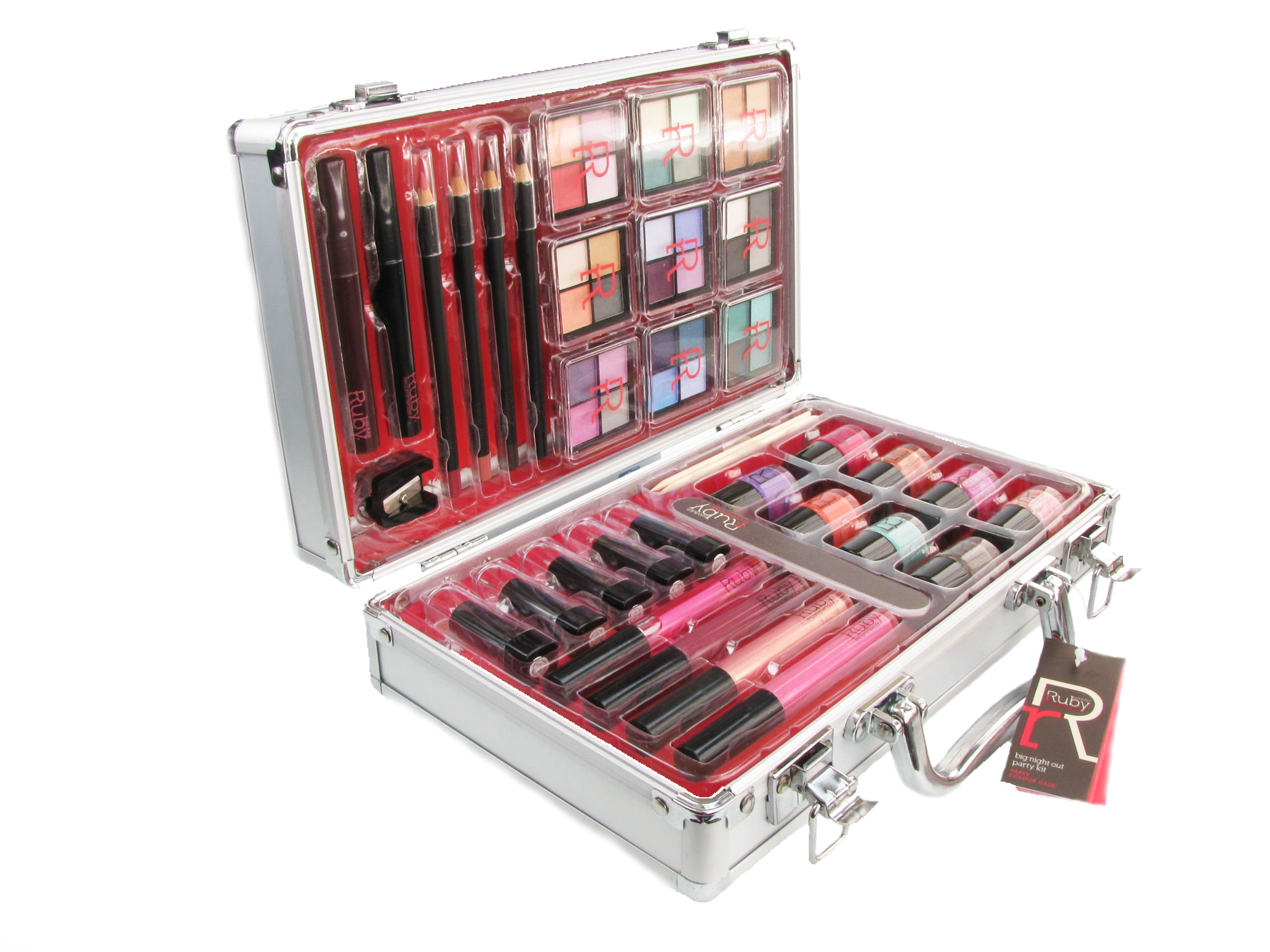 Ruby Cosmetics 36 Piece Womens Vanity Case Makeup Train ...