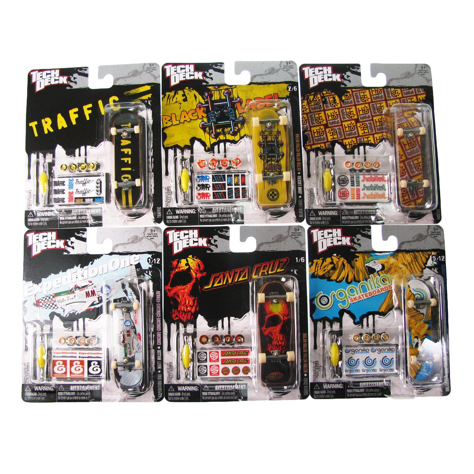 Toy tech deck finger skateboard mini board pack sticker