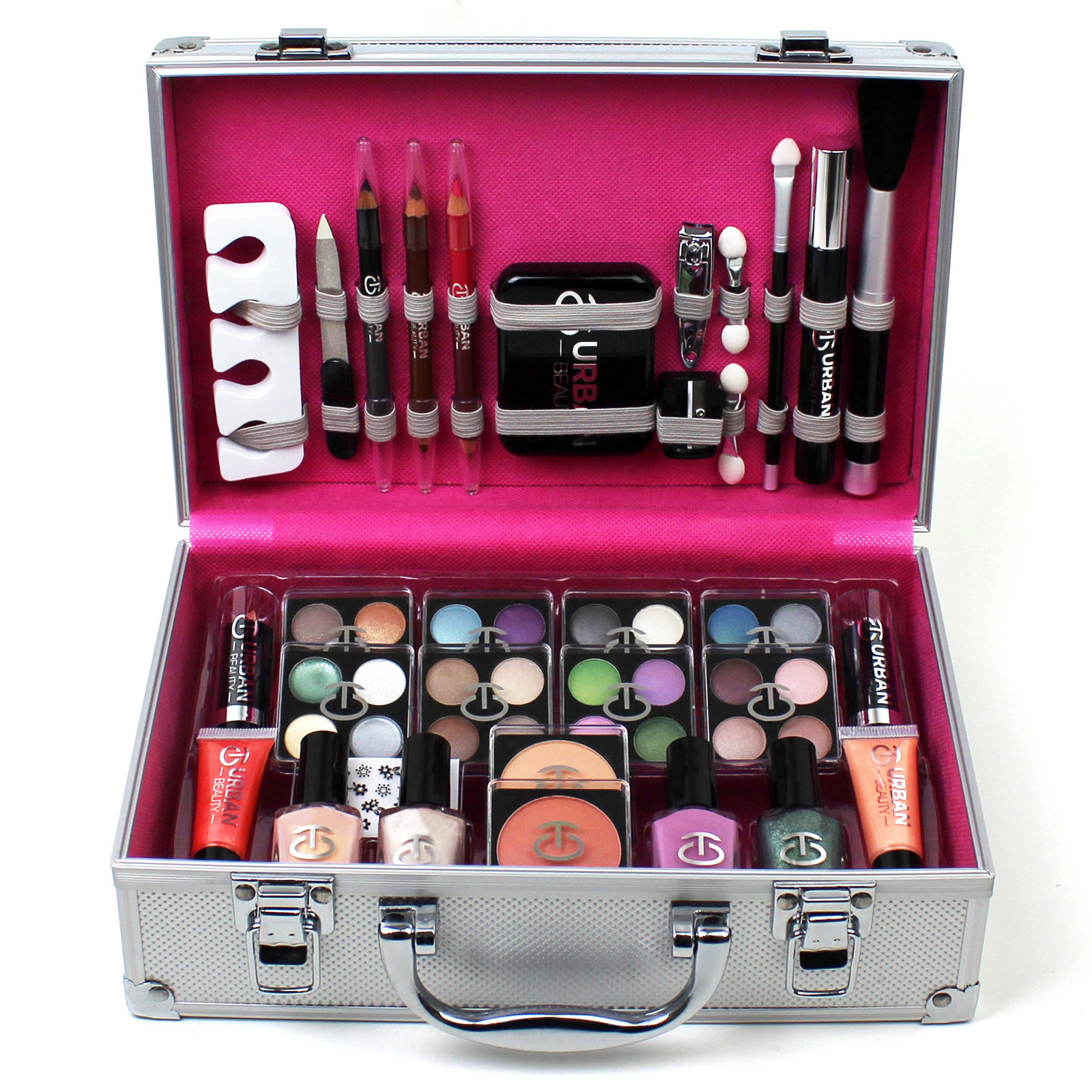 vanity case cosmetic make up urban beauty box travel carry gift storage 60 piece ebay. Black Bedroom Furniture Sets. Home Design Ideas
