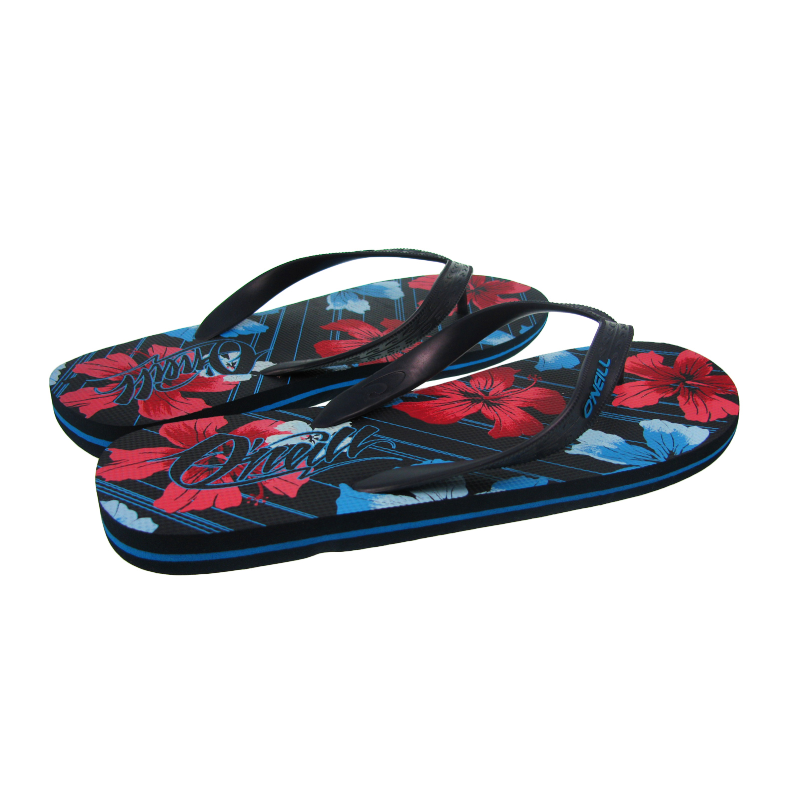 flip flops mens o 39 neill keanu floral print beach holiday. Black Bedroom Furniture Sets. Home Design Ideas