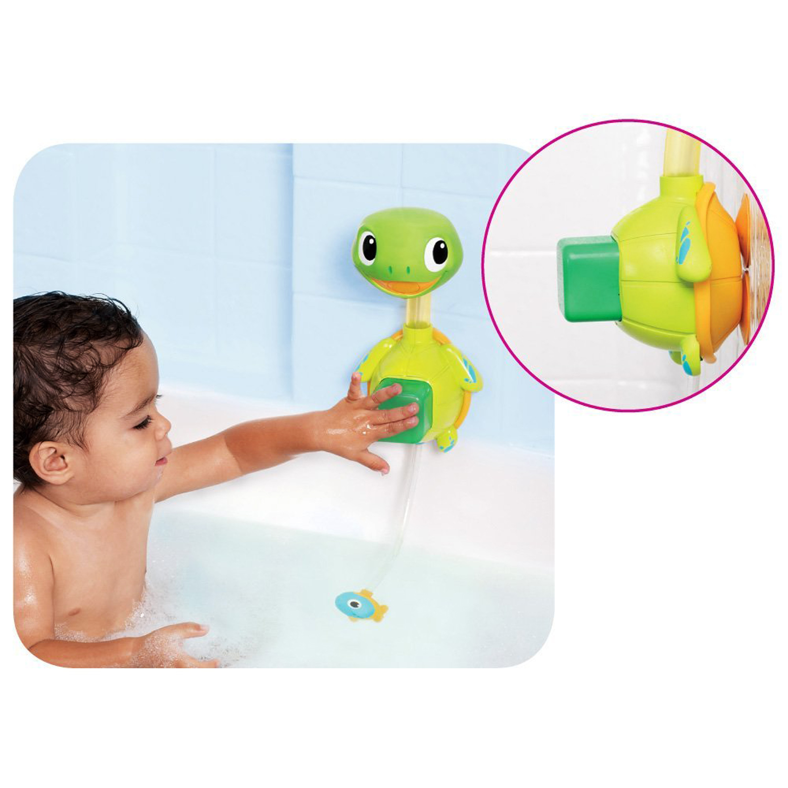 munchkin baby child interactive turtle shape shower bath toy 12m. Black Bedroom Furniture Sets. Home Design Ideas