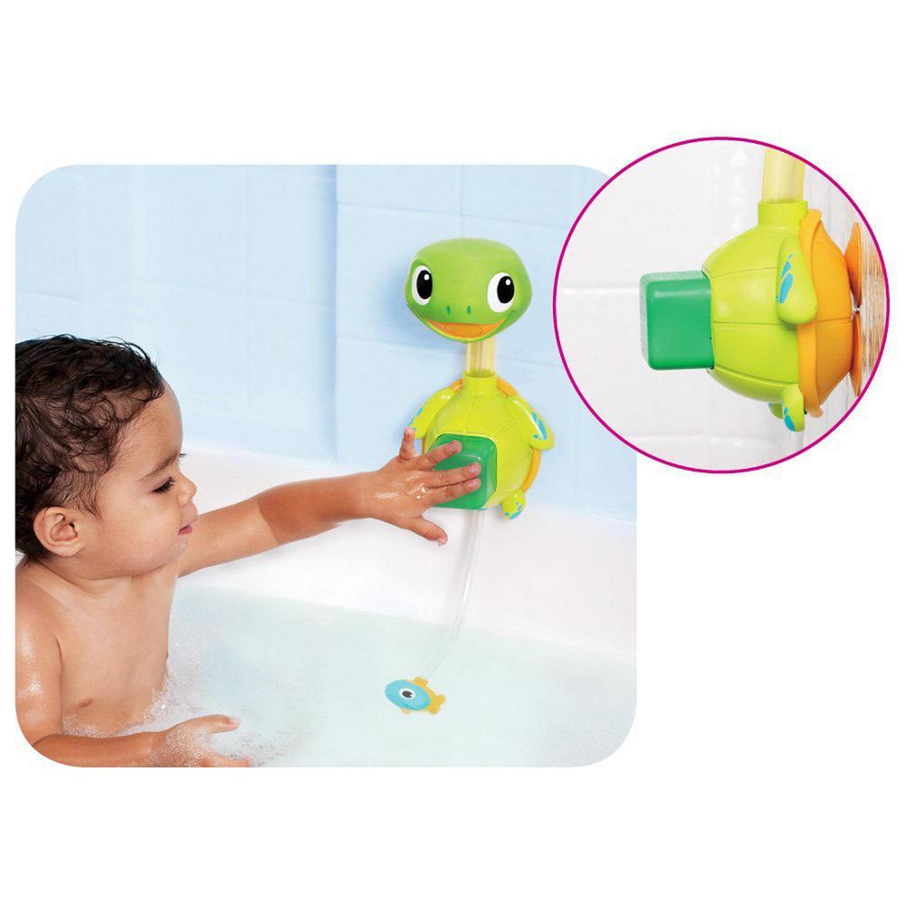 munchkin baby child interactive turtle shape shower bath toy 12m bath toys urban trading. Black Bedroom Furniture Sets. Home Design Ideas
