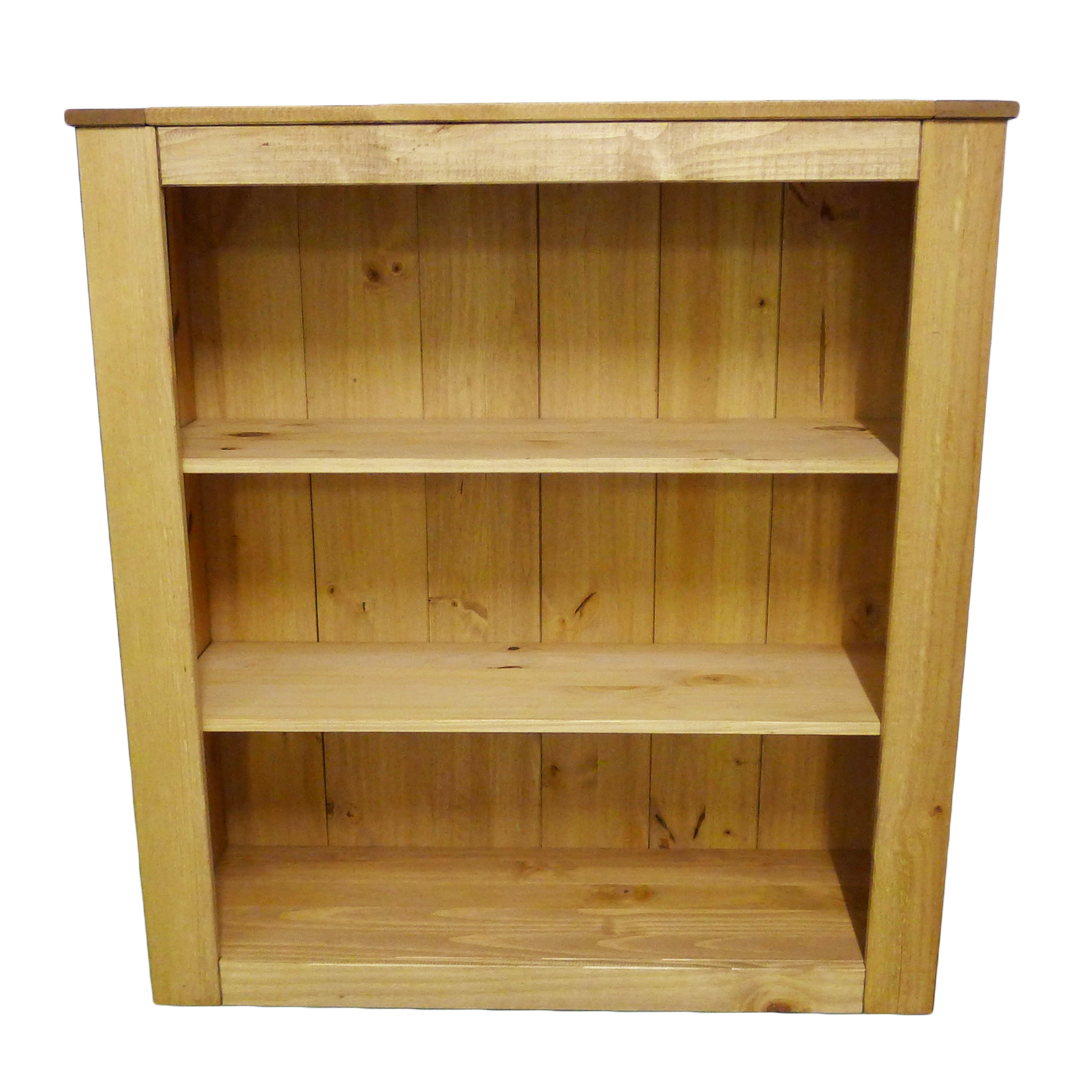 St Albans Solid Pine Bookcase Bookshelf Storage Unit or Dresser Top With Shelves Enlarged Preview