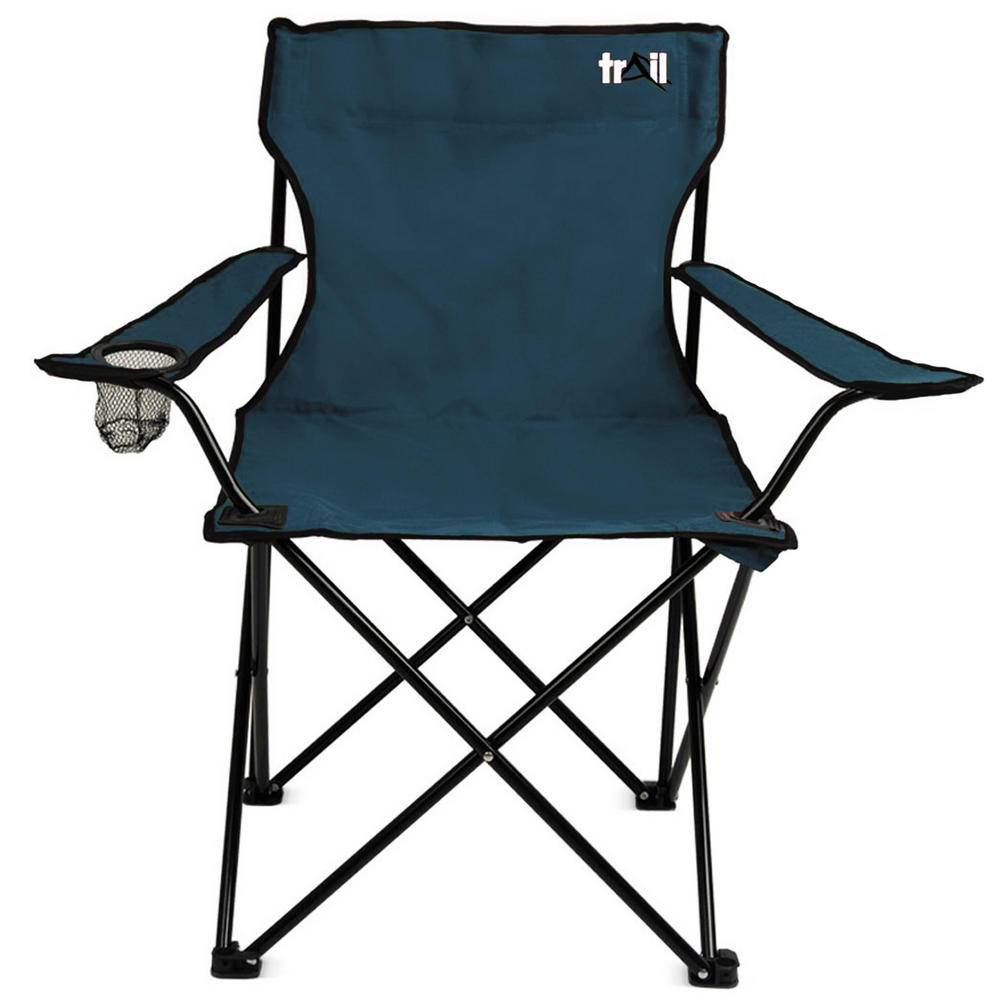 Trail Dark Blue Folding Outdoor Furniture Chair For Camping & Fishing Tab