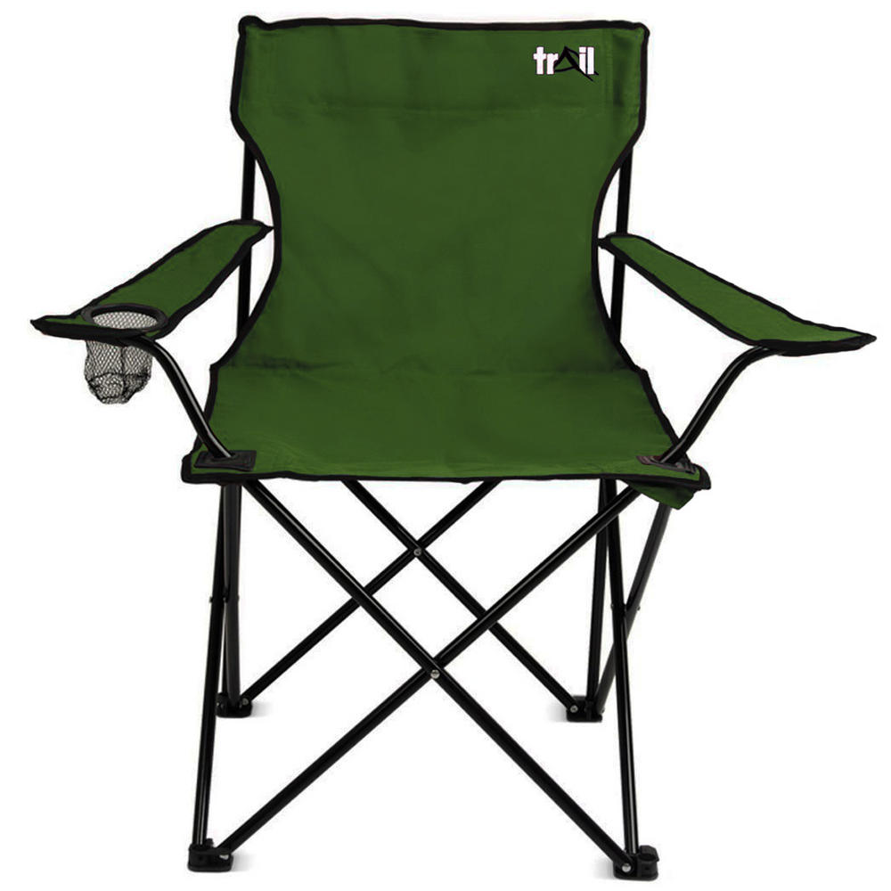 trail dark green folding outdoor furniture chair for