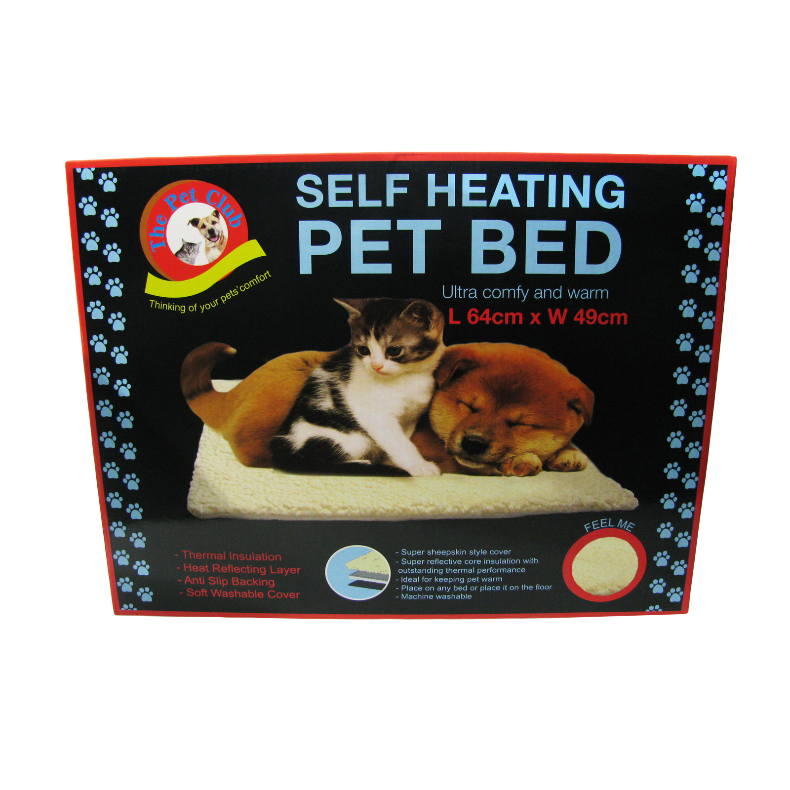 Dog Bed Cat Self Heating Pet Sheepskin Thermal Washable