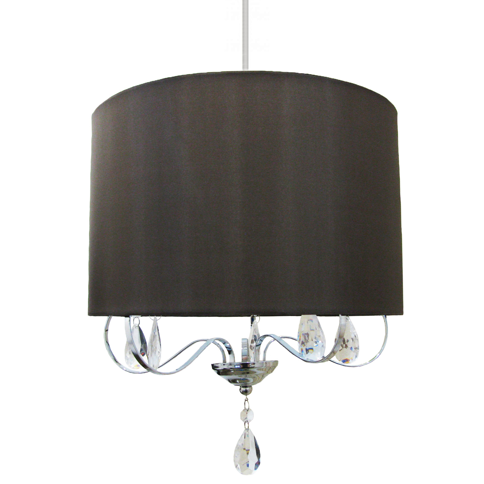 Ceiling Light Shade Argos : Inspire ceiling brown chocolate shadelier lampshade