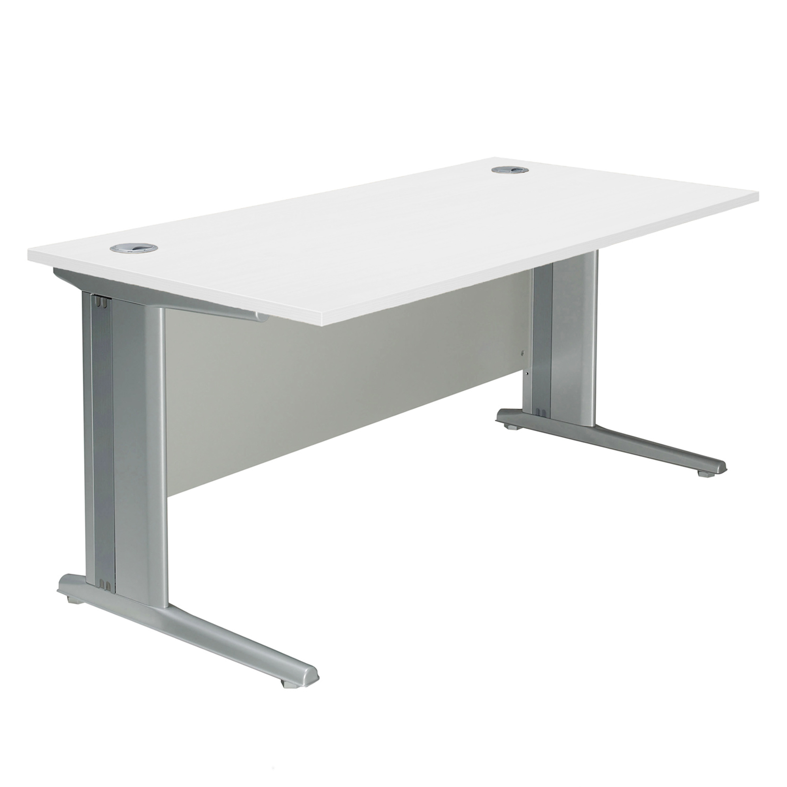 bluespot white small work office computer desk with foot board 120cm ebay. Black Bedroom Furniture Sets. Home Design Ideas