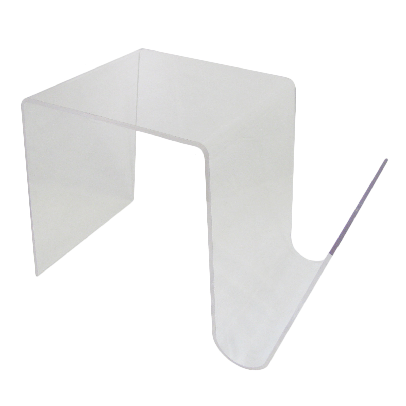 Mistral Acrylic Modern Side Coffee Table With Magazine Rack