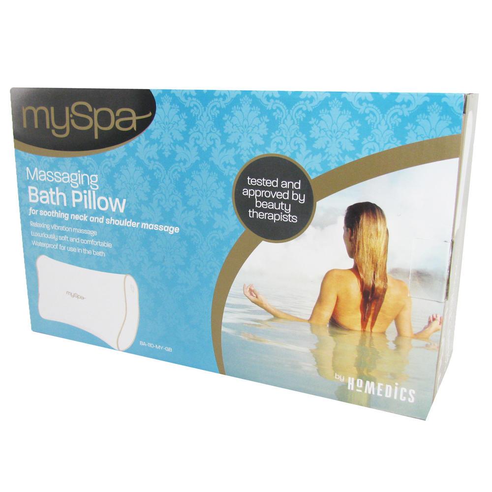 Homedics my spa vibrating head neck massaging bath cushion pillow preview enlarge image thumbnail 1 thumbnail 2 thumbnail 3