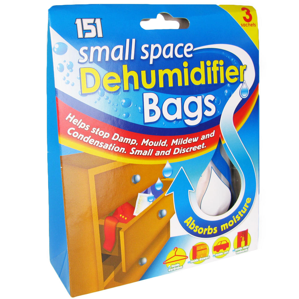Dehumidifier bags small space interior portable damp mould mildew absorber 3pk dehumidifiers - Small space dehumidifier bags set ...